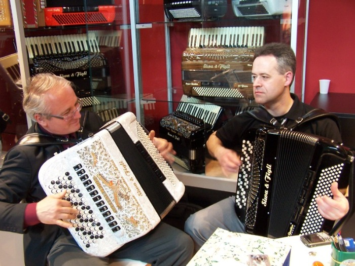 Ivan Stanojlovic and Dorjan Krljar at Musikmesse 2010