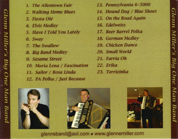 Glenn E. Miller CD tracks